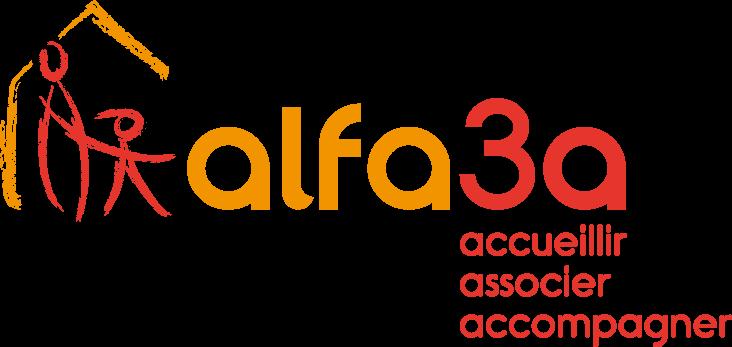 "logo Alfa3a ""accueillir, associer, accompagner"